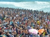 Crowds on the sand at the 2011 US Open