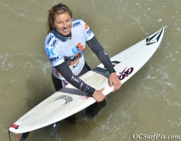 Coco Ho smiles before the start of her heat