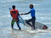 Nat Yeomans shakes hands with Miguel Pupo