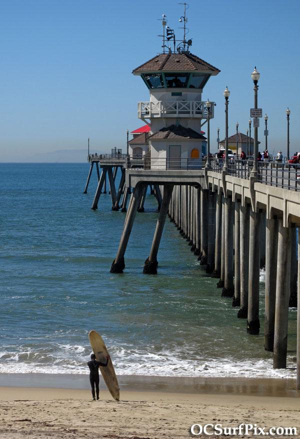 surfer huntington beach pier